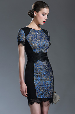eDressit Black Beaded Lace Mother of the Bride/Groom Dress (26180705)