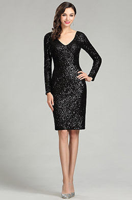eDressit Black Sequins Night Party Cocktail Dress (04180700)