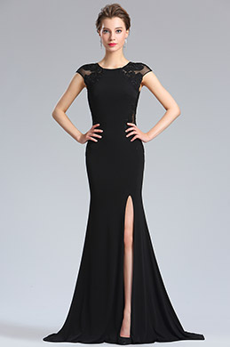 eDressit Black Lace Appliques slit Prom Evening Dress (36184700)