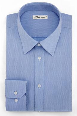 eDressit Sans Repassage Chemise Sur Mesure 100% Coton Bleu (29180105)
