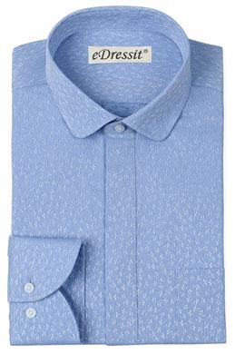eDressit Custom Blue Club Collar Men Shirt (29181205)