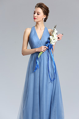 eDressit V-Cut Tulle Bridesmaid Dress Evening Dress (00182105)