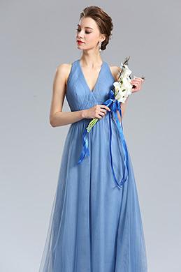 eDressit Tulle Bleu Robe de Demoiselle d'honneur Bal (00182105)