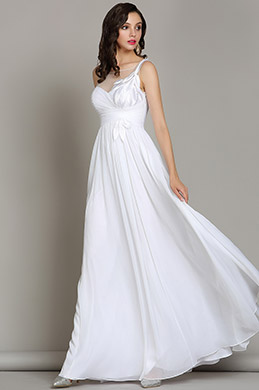 eDressit White Floral Wedding Reception Chiffon Dress (01180307)