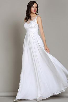 EDressit White Floral Wedding Reception Chiffon Dress 01180307