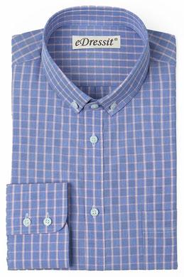 eDressit Custom 100% Cotton Check Dress Shirt (29181105)