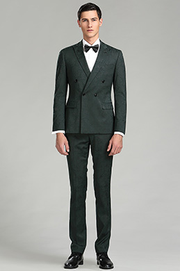 Dark Green Pattern Custom eDressit Men Suits Tuxedo (15180968)