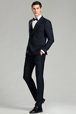 Dark Blue Pattern Custom eDressit Men Suits Tuxedo (15181168)