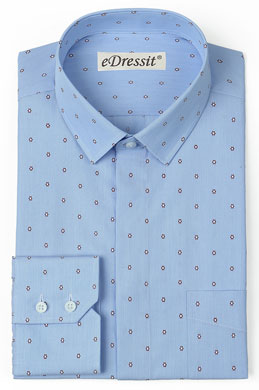 eDressit Custom Blue 100% Cotton Casual Shirt (29181005)