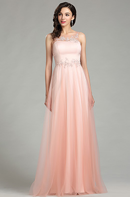 eDressit Elegant Pink Long Lace Evening Dress for Women (00181101)