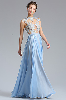 eDressit Halter Lace Blue Evening Dress Formal Gown (02182032)