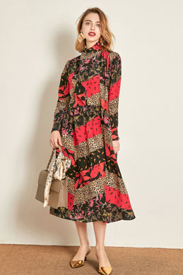 eDressit Silk Mini-long Printed Dress Day Wear (30192068)