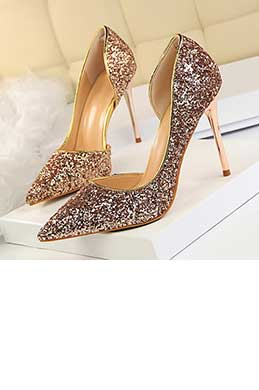 Women's Sparkling Sequins High Heel Pumps Shoes (0919002)