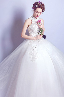 eDressit Sexy High Neck Sleeveless Beads Formal Wedding Dress (36210507)