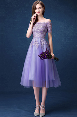 eDressit Lilac Embroidery OFF-Shoulder Party Evening Dress (35190406)