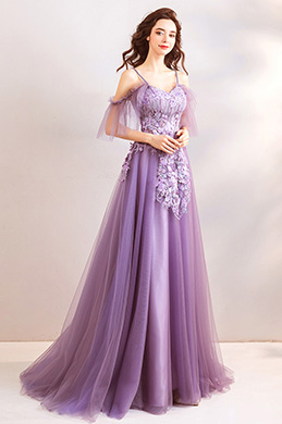 eDressit Purple Spaghetti Floral Embroidery Women Party Dress (36210706)