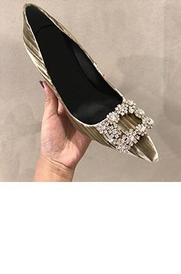 eDressit Women Suede Toe Closed Rhinestone Shoes (0919049)