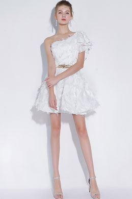 eDressit Sexy White Single Shoulder Short Cocktail Party Dress (35197807)