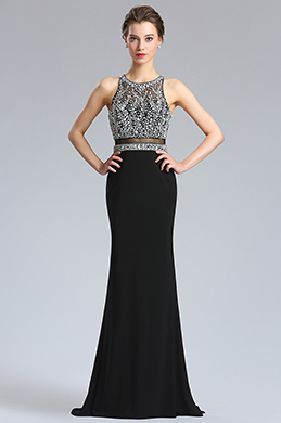eDressit Halter Neck Beaded Bodice Prom Dress Formal Gown (36183700)
