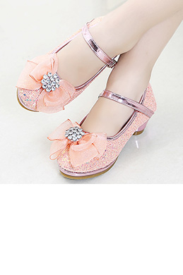 Girl's Lovely Sequin Round Toe Leather Flower Girl Shoes (250056)
