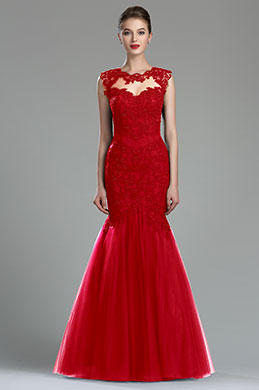 eDressit Sparkly Red Beaded Lace Evening Dress (36181202)
