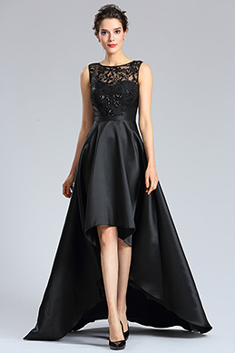 eDressit Black Sexy Illusion Neckline Evening Prom Dress (02182300)