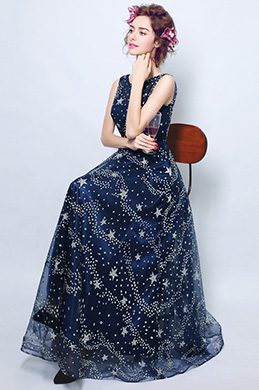 eDressit Blue Sparkle Elegant Party Evening Dress (36194605)