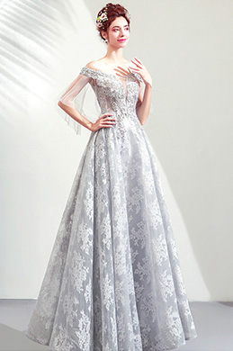 eDressit Sexy Grey Lace Off Shoulder Party Prom Dress (36207808)