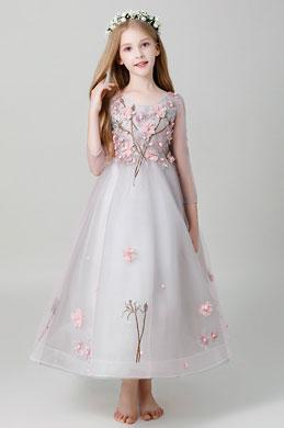 eDressit Princess 3/4 Sleeves Children Wedding Flower Girl Dress (27203401)