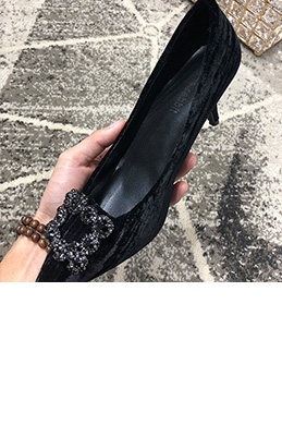 eDressit Women Suede Toe Closed Rhinestone High Heels Shoes (0919056)