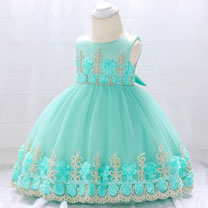 eDressit Round Neck Handmade Lace Baby Dress (2319030)