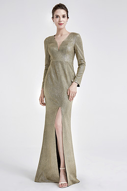 eDressit Sexy V-Neck Shiny long Sleeve Party Evening Dress (26190524)