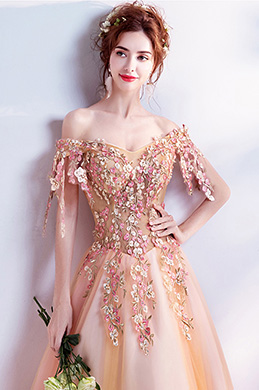 eDressit Unique OFF Shoulder Embroidery Party Ball Gown (36207310)