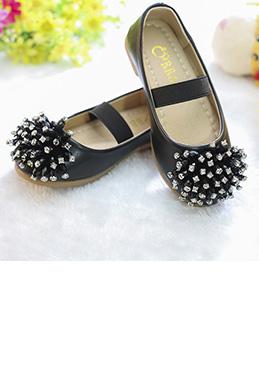 eDressit Black Girl's Round Toe Leather Flat Flower Girl Shoes (250006)