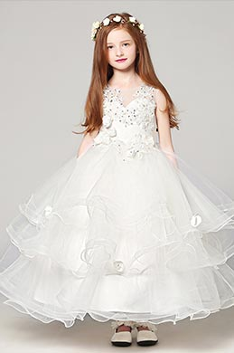 eDressit White Wedding Flower Girl Stage Show Dress (27191207)