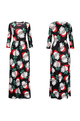 eDressit Long Printed Holiday Dress Summer Dress (36190368)