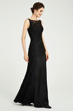 eDressit Black Sleeveless Embroidery Prom Party Dress (00191200)