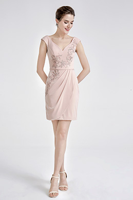 eDressit Pink Cute Embroidery Short Cocktak Dress (04190201)