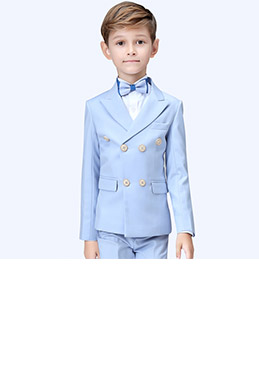 eDressit Light Blue Boys Suit Double-breasted Tuxedo  (16190332)