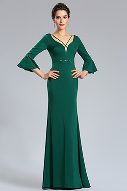 eDressit Green V-neck Sleeves Prom women Evening Dress (26181804)