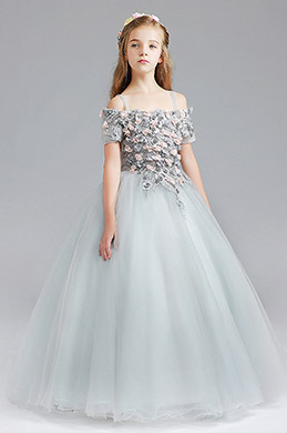 eDressit Tulle Flora Handmade Wedding Flower Girl Party Dress (27199808)