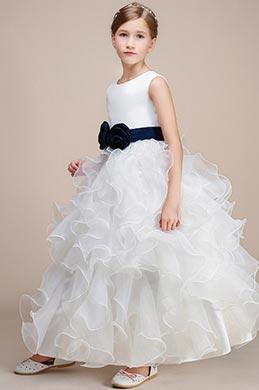 eDressit White Sleeveless Wedding Flower Girl Party Dress (27193507)