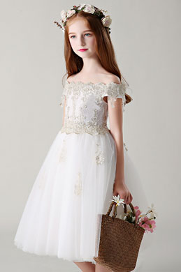 eDressit Off Shoulder Lace Wedding Flower Girl Dress (28199807)