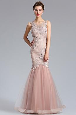 eDressit Rose-Pink Strap Prom Gown Mermaid Party Dress (36184846)