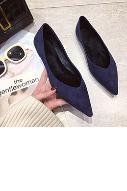 eDressit Women Suede Toe Closed Pointed Flat Shoes (0919069)