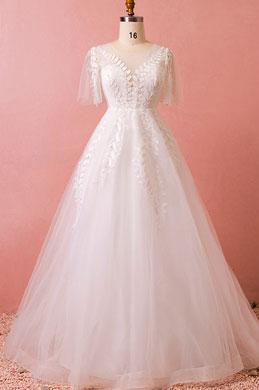 eDressit Plus Size Short Sleeves Women Dress Wedding Dress (31193607)