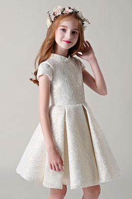 eDressit Cap Sleeves Wedding Flower Girl Dress (28201007)