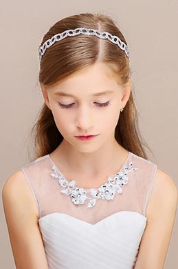 eDressit Silver Beads Girl Headwear Hair Hoop (13191726)
