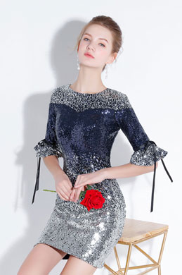 eDressit Sexy  Blue-Silver Sequins Elegant Cocktail Party Dress (35197305)