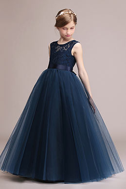 eDressit Navy Blue Lace Children Wedding Flower Girl Dress (27192505)